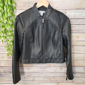 Motherhood Faux Leather Jacket Size Small